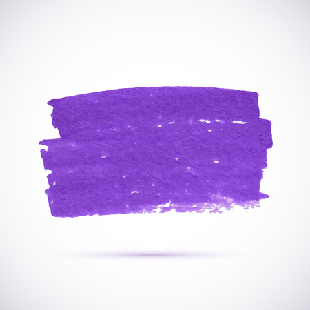 Violet marker texture vector stain with shadow Vector