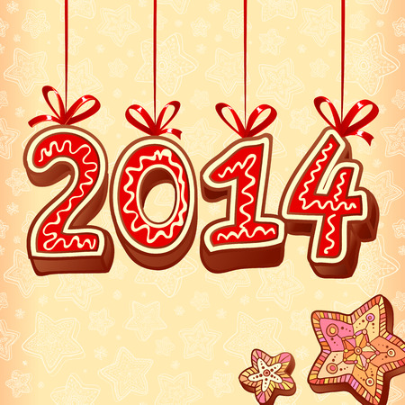 Christmas sweets doodle style new year vector sign Vector