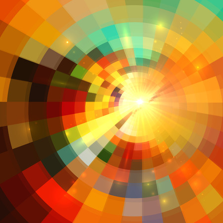 Colorful abstract bright mosaic vector mottled background Vector