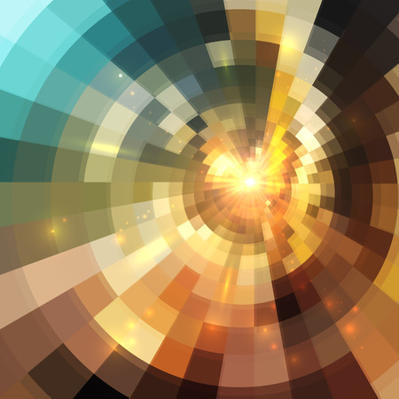 Abstract shining lights vector square mosaic background