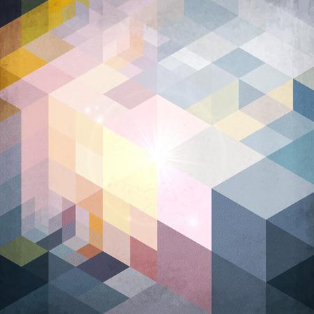 prisma: Patrón de la geometría abstracta azul vector de fondo del grunge Vectores