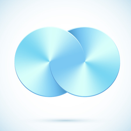 bright future: Blue gradient circles vector infinity, abstract concept
