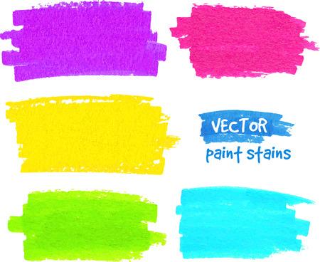 daub: Bright rainbow colors paintbrush realistic vector strokes