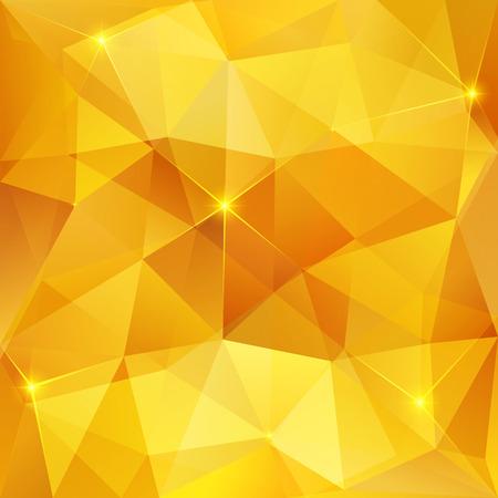 輝く結晶ベクター抽象的な三角形パターンを蜂蜜します。