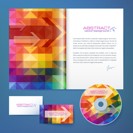 visit card: Abstract geometry pattern vector business style and magazine template