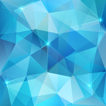 Blue abstract triangles shining ice vector background Vector