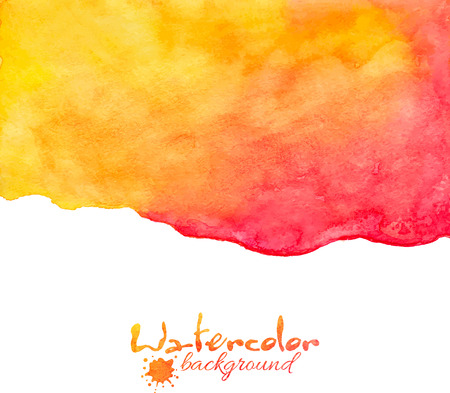 Orange and red watercolor vector abstract background