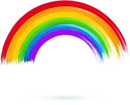 Acryl helder geschilderde regenboog, vector illustratie, Vector Illustratie