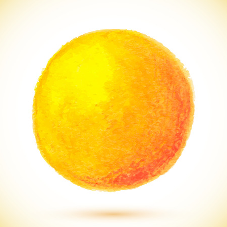 Orange vector isolated watercolor texture paint circle Vector