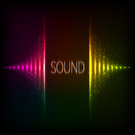 rainbow music: Rainbow colors vector abstract neon lights equalizer Illustration