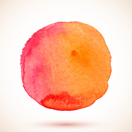 Red vector isolated watercolor texture paint circle Vector