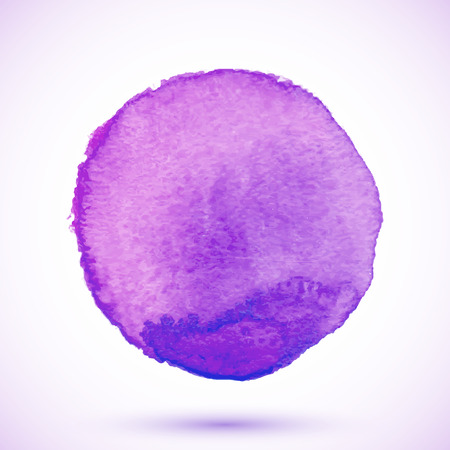 Violet vector isolated watercolor paint texture circle Vector