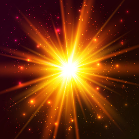 Yellow and orange colors cosmic vector explode Vector