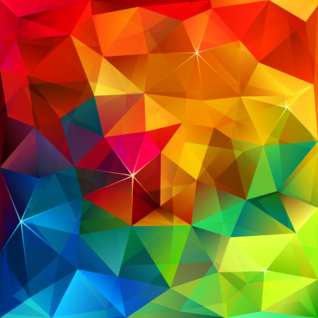 Rainbow colors abstract triangular grid vector pattern