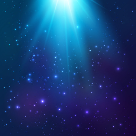 Bright blue vector cosmic magic light background Illustration