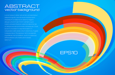 colrful: Blue abstract background colrful vector leaflet template