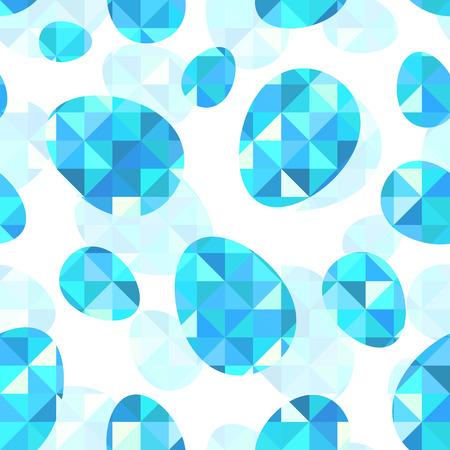 Blue diamond eggs vector seamless pattern tile Vector