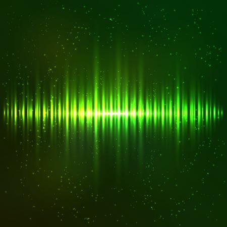 shining light: Verde brillante luz vectorial abstracto ecualizador c�smica