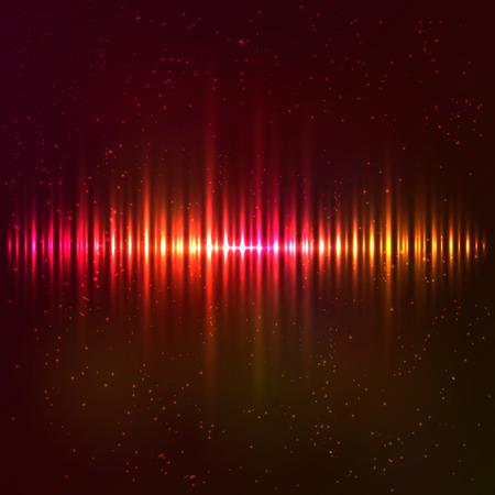 Red shining light vector abstract cosmic equalizer Ilustração
