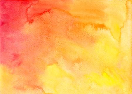 アルバム形式でのオレンジ色の水彩ベクトルの背景