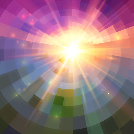 shining light: Resumen de luz brillante mosaico conc�ntrico fondo vector