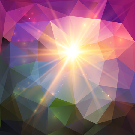 Abstract shining light geometric mosaic vector background Vector