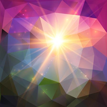 shining light: Resumen de luz brillante mosaico geom�trico de vectores de fondo