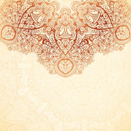 Ornate vintage background in mehndi style Stock fotó - 29751595