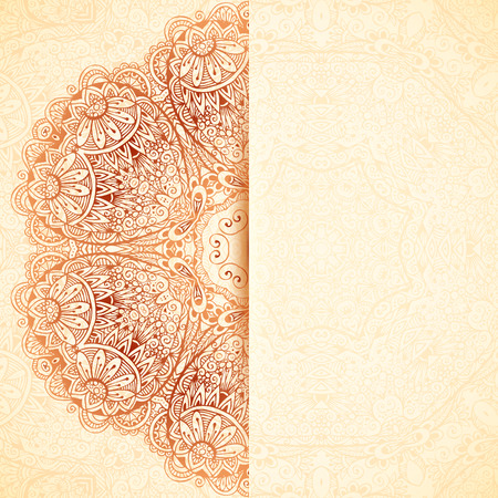 Ornate vintage wedding card vector template Vector