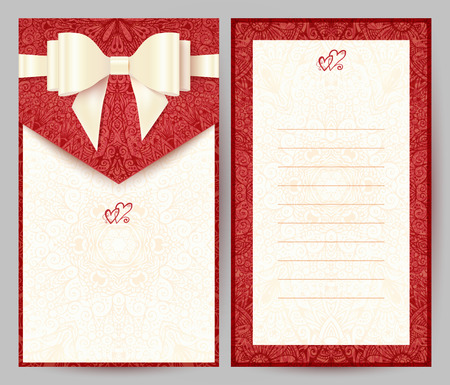 Elegant stylish red greeting card Illustration