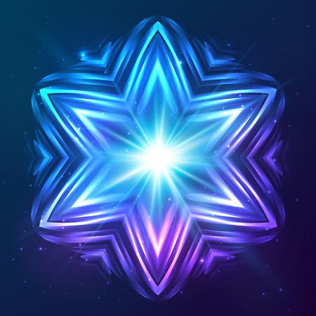 Abstract vector shining cosmic star Vector