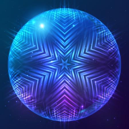 Abstract vector shining cosmic sphere Vector