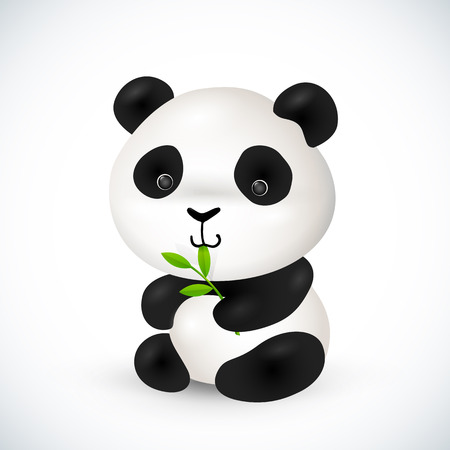 Cute little vector panda Vector