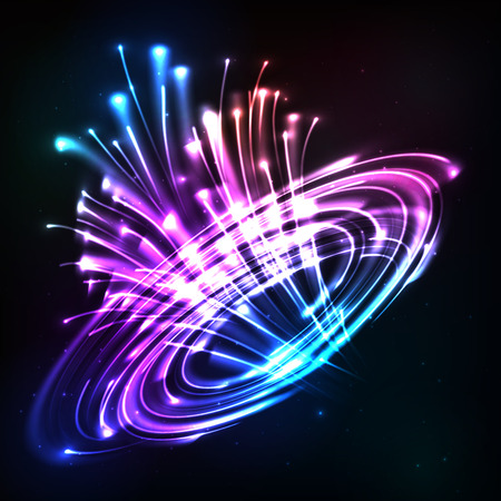 circl: Neon lights vector cosmic explode