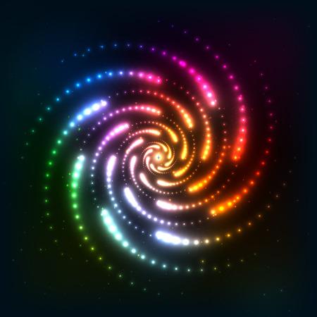 Resumen arco iris de fondo espiral neoncosmic