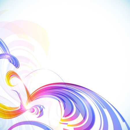 water flowing: Abstract rainbow stripes vector shining background