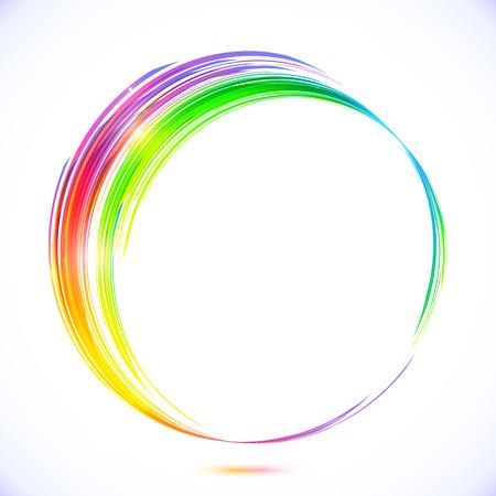 Vektor abstrakten Regenbogen Kreis-Rahmen Illustration