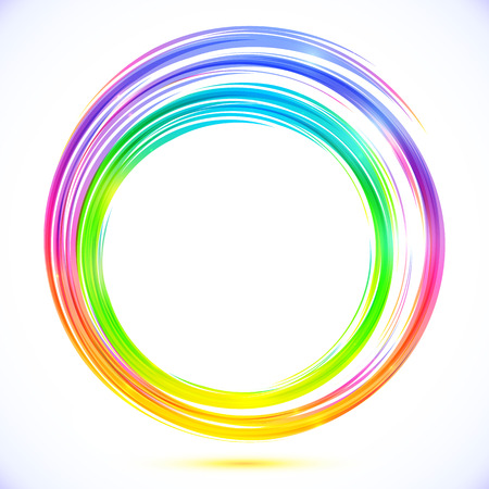 Rainbow vector abstract circle frame Vector