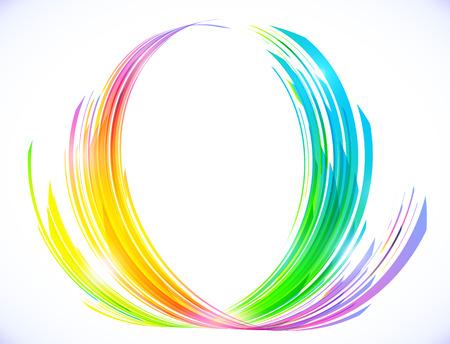 Rainbow colors abstract lotus flower symbol