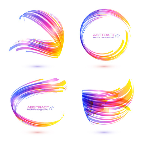Abstract technology lines vector frames set