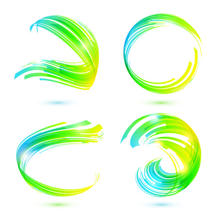Abstract technology lines vector frames set Vector