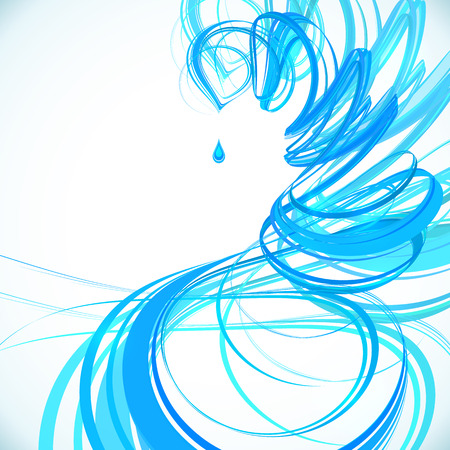 spiral vector: Blue abstract spiral vector background Illustration