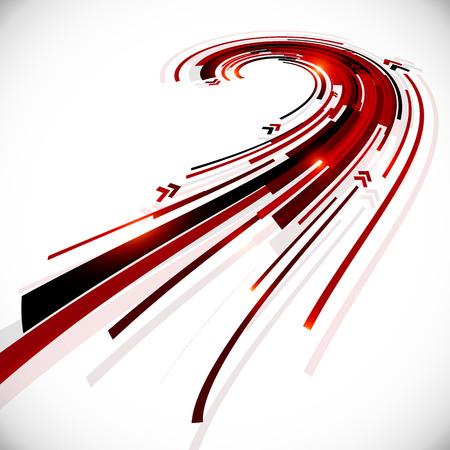 Abstract black and red perspective vector background Illusztráció