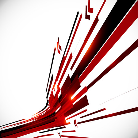 Abstract red and black shining lines background Stock Illustratie