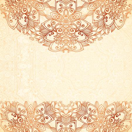 Ornate vintage background in mehndi style