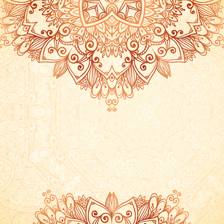 Ornate vintage background in mehndi style Stok Fotoğraf - 30312404