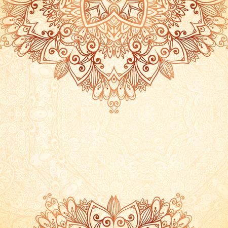 Sierlijke vintage achtergrond in mehndi stijl Stock Illustratie