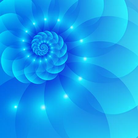 抽象的な背景が青色のスパイラル  イラスト・ベクター素材