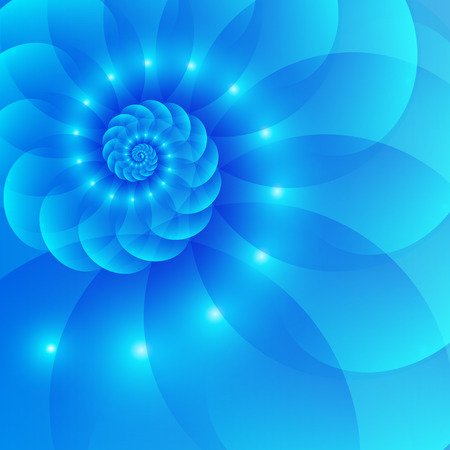 fractal: Blue spiral abstract background