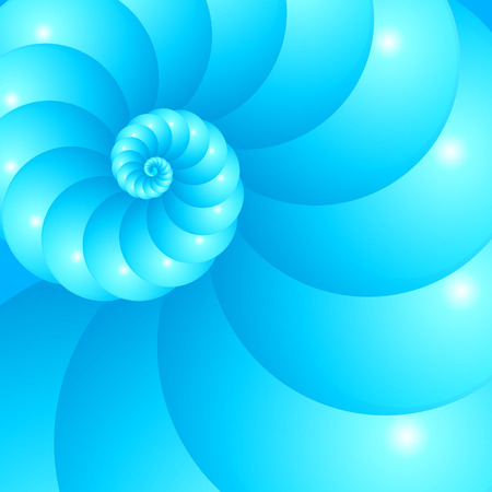 nautilus shell: Blue spiral abstract background